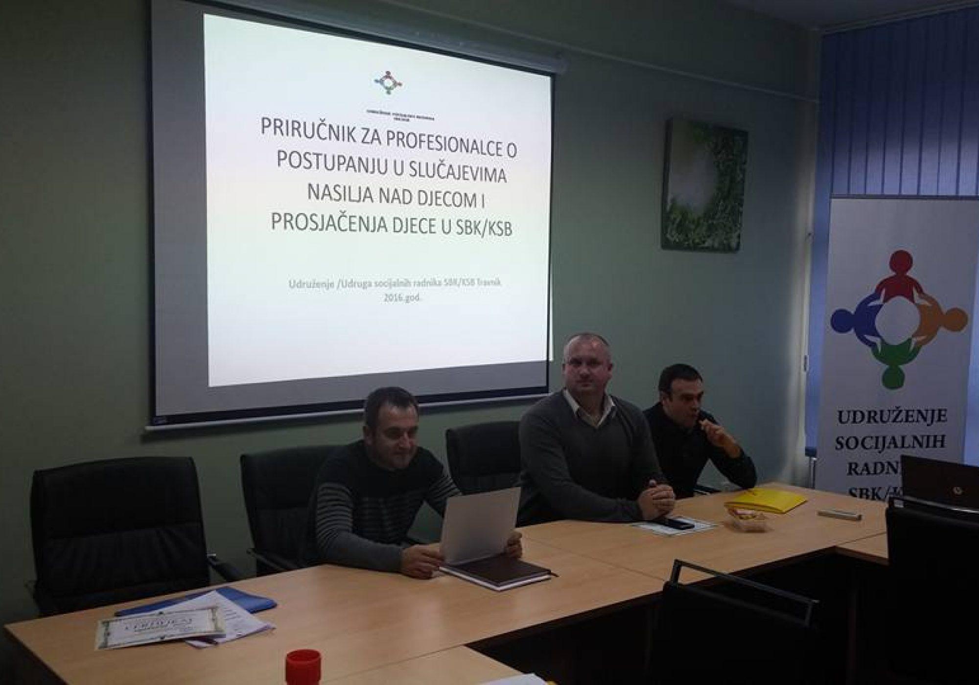 Održana druga promocija za profesionalce o postupanju u slučajevima nasilja nad djecom i prosjačenja djece u SBK/KSB